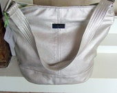 Large Hobo Bucket Bag Handbag / Slouchy Leather Shoulder Bag / Champagne Leather / Swoon Patterns Bonnie