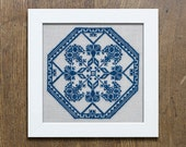 A Quaker Medallion - Instant Download PDF cross-stitch embroidery pattern
