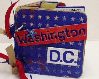 Washington D.C. Scrapbook premade pages USA White House