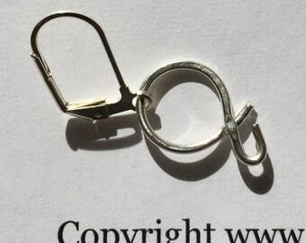 EAD, Letter a, Sterling Silver letter earring, Single Earring, Lilyb444, Jewelry,