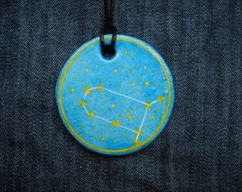 Gemini Jewellrey -Zodiac pendant,Constellation Zodiac Jewellery - Astrology - Astronomy - Constellation on Blue
