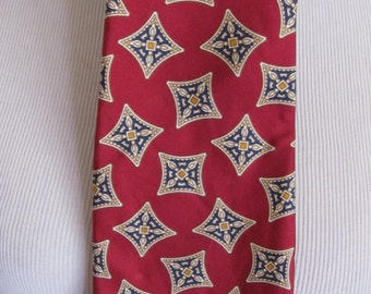 Liberty of London - Mens Burgundy Red Silk Neck Tie
