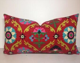 Mayan Medallion Desert Flower Decorative Pillow Cover
