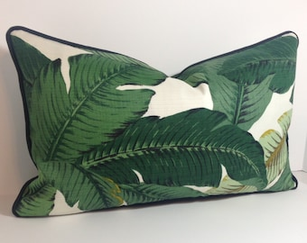 Tommy Bahama Swaying Palms Pillow Cover in Indoor Outdoor Fabric / Includes Piping/Welting