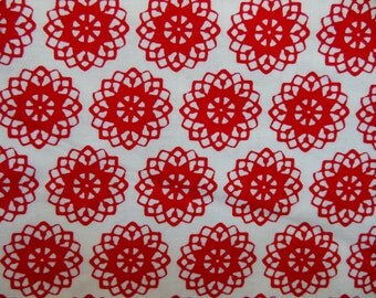 JENNY ELIZA * Red and White * Flowers  * Floral * MOD * Folk * Red and White Flower Garden * French Country Cottage