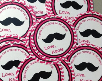 Mustache Bash Favor Tags