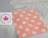 CLEARANCE Sale Candy Bags Polka Dot | Apricot Peach | Goody Treat Candy Buffet Bar Bags | Party Supplies | Favor Bags set of 24 | Birthday