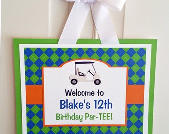Personalized Golf Sign Printable - Let's Golf Collection
