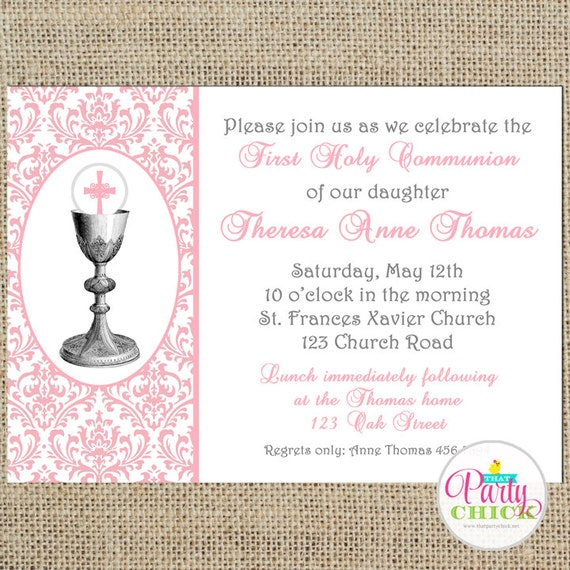 Stupendous image throughout first communion invitations free printable