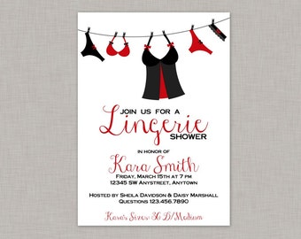 Lingerie Shower Invitation, Bridal Shower Invitation, Printable