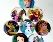 Comic Pocket Mirror Featuring Frozen Snow White Sleeping Beauty Jasmine Cinderella Rapunzel