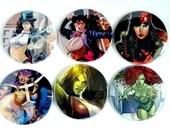 Comic Pocket Mirror Featuring Zatanna Elektra Huntress She Hulk Poison Ivy