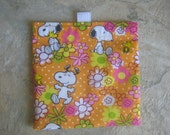 One Snoopy - Reusable Sandwich/ Snack Bag with tabs