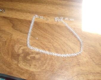 vintage necklace choker glass