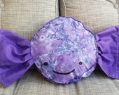 Pillow GIANT Wrapped Candy - Purple Swirl - Sweet Home Decor