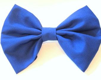 Royal Blue Hair bow/ Hair bow Clip/ Big hair Bow