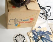 1950s View Master Junior Projector with Reels REDUCED