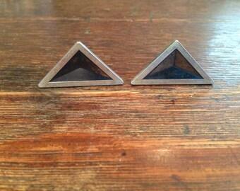 Sterling Silver DUNHILL 1950s Triangular Design Cufflinks
