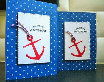 Nautical Love Card, Friendship Card, Anniversary Card for Husband, You Are My Anchor Card, Valentine Card, BFF Card