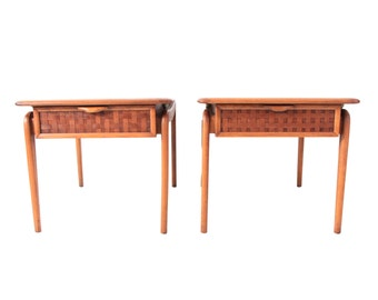 Pair of Vintage Lane Mid Century Modern Side Tables
