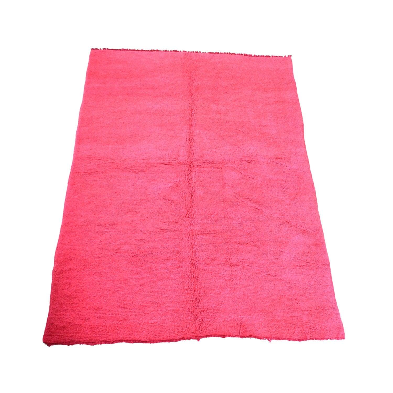 Large Vintage Hot Pink Moroccan Rug