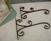 Vintage wrought iron Wall Hook sign, metal wall hook for baskets, wrought iron wall hooks for signs, wall hooks for hanging baskets  (2)