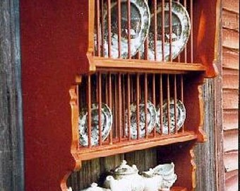 Early Hudson Valley Hanging Plate Rack