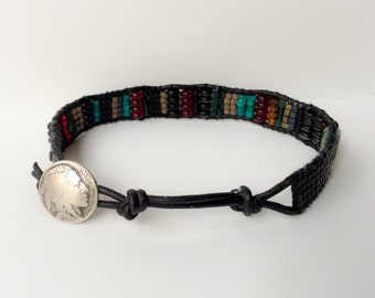 Men's Turquoise and Black bracelet