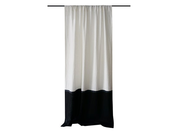Black And White Chevron Curtain Panels