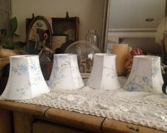Rachel Ashwell British Rose Set of 4 Chandelier Lamp Shades