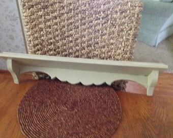 Vintage Wooden Plate Shelf
