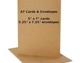 Kraft Cards A7 Envelopes Set of 50