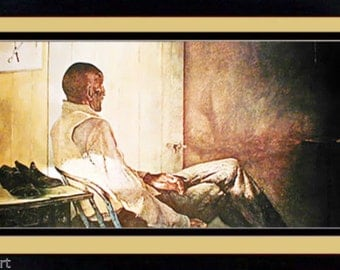 Rare Andrew Wyeth Framed Art Poster Print That Gentleman 14x20 Inches