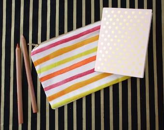Beach Stripe Zip Bag