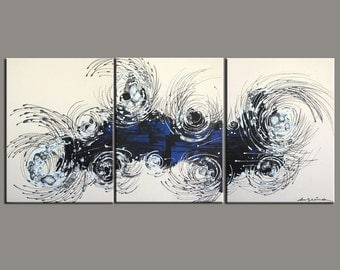 Abstract Painting,  54''  Huge  Original DEEP Artist Canvas  Textured Palette Knife Painting,   Ready to Hang
