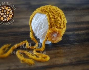 INSTANT DOWNLOAD - Crochet Pattern Mermaid Maddie Bonnet