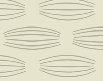 """Fabric 1 Yard Home Decorating Curious Nature COCOONS Silver Cream Grey David Butler 54"""" WIDE"""
