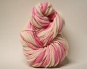 Thick and Thin Merino Yarn Handspun Wool Slub  Hand Dyed tts(tm) Bulky Self Striping xxLRH 1503b
