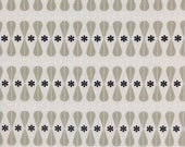 Black and White Floral Geo, Melody Miller, Cotton+Steel, RJR Fabrics, 100% Cotton Fabric, 5035-1
