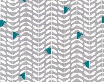 Yoyogi Park Peeking in Gray, Skinny laMinx, Heather Moore, 100% GOTS-Certified Organic Cotton, Cloud9 Fabrics, 131950