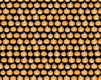 Halloween Magic Glowing Pumpkins in Black, Bella Blvd, Stephanie Hunt, Riley Blake Designs, 100% Cotton Fabric, GC4615-BLACK