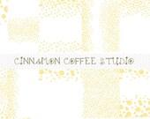 Gold Dot Confetti Digital Paper, Golden Glitter Confetti Background, Scrapbook Printable Invitation Background
