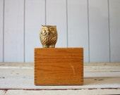 Vintage Oak Recipe Box // Card Catalog