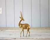 Vintage Brass Antelope // Solid Brass