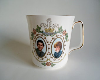 Prince of Wales & Lady Diana Spencer Mug To Commemorate the Marriage 1981 Arcoroc France