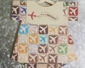 Magnetic Airplane Onesie Baby Shower Invitation