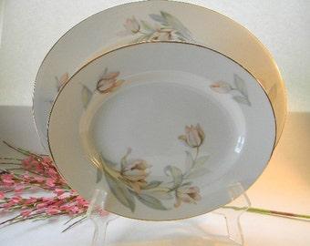 PLATTER, (2) Vintage Tirschenreuth Bavaria, Serving Platters, Tulips