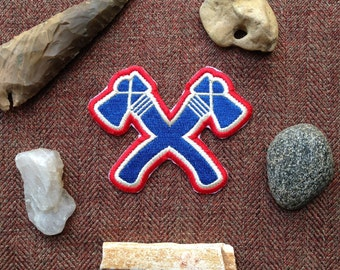 Tomahawk Iron-On Patch, Tomahawk, Native American, Scout, Scouting, Camping, Camp, National Parks