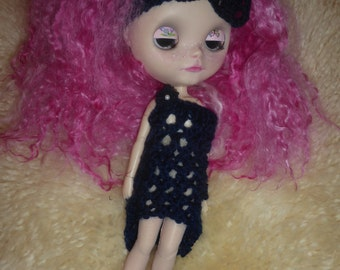 Blythe Midnight Dress & Hairband  (BD89015)
