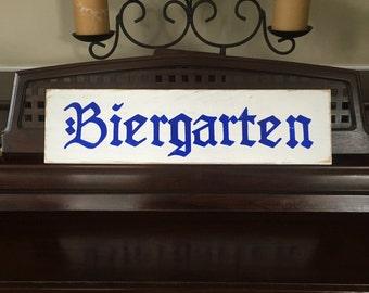 BIERGARTEN Beer Garden Sign Plaque German Deutschlandb Oktoberfest Octoberfest Party Decor Bavarian Rustic Oompa Band HP Wood Pick Colors